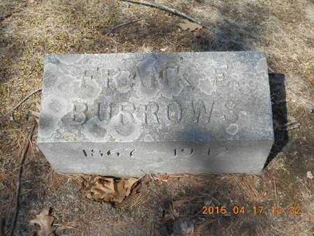 BURROWS, FRANK E. - Marquette County, Michigan | FRANK E. BURROWS - Michigan Gravestone Photos