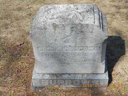 BURROWS, JOHN S. - Marquette County, Michigan | JOHN S. BURROWS - Michigan Gravestone Photos