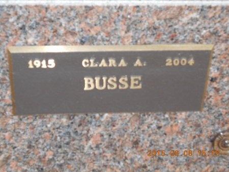 BUSSE, CLARA A. - Marquette County, Michigan | CLARA A. BUSSE - Michigan Gravestone Photos