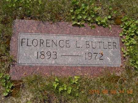 BUTLER, FLORENCE L. - Marquette County, Michigan | FLORENCE L. BUTLER - Michigan Gravestone Photos