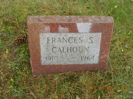 CALHOUN, FRANCES S. - Marquette County, Michigan | FRANCES S. CALHOUN - Michigan Gravestone Photos