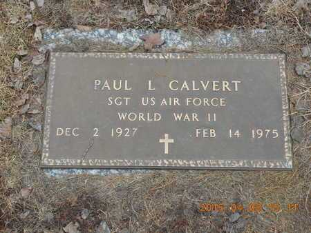 CALVERT, PAUL L. - Marquette County, Michigan | PAUL L. CALVERT - Michigan Gravestone Photos