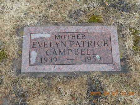 PATRICK CAMPBELL, EVELYN - Marquette County, Michigan | EVELYN PATRICK CAMPBELL - Michigan Gravestone Photos