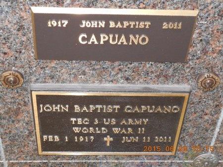CAPUANO, JOHN BAPTIST - Marquette County, Michigan | JOHN BAPTIST CAPUANO - Michigan Gravestone Photos