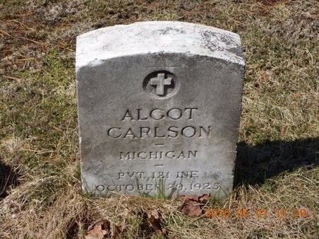 CARLSON, ALGOT - Marquette County, Michigan | ALGOT CARLSON - Michigan Gravestone Photos