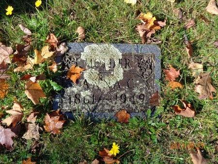 CARLSON, ANNA C. - Marquette County, Michigan   ANNA C. CARLSON - Michigan Gravestone Photos