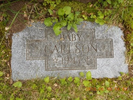 CARLSON, BABY - Marquette County, Michigan   BABY CARLSON - Michigan Gravestone Photos