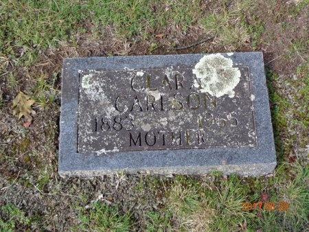 CARLSON, CLARA - Marquette County, Michigan | CLARA CARLSON - Michigan Gravestone Photos