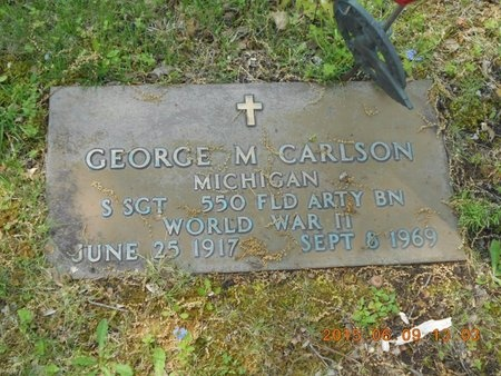 CARLSON, GEORGE M. - Marquette County, Michigan | GEORGE M. CARLSON - Michigan Gravestone Photos