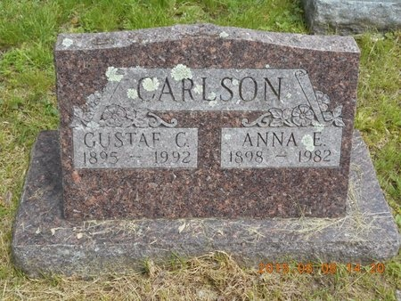 CARLSON, ANNA E. - Marquette County, Michigan | ANNA E. CARLSON - Michigan Gravestone Photos