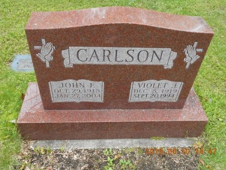 CARLSON, JOHN F. - Marquette County, Michigan | JOHN F. CARLSON - Michigan Gravestone Photos