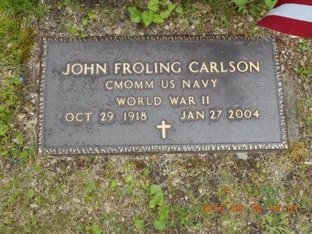 CARLSON, JOHN FROLING - Marquette County, Michigan | JOHN FROLING CARLSON - Michigan Gravestone Photos