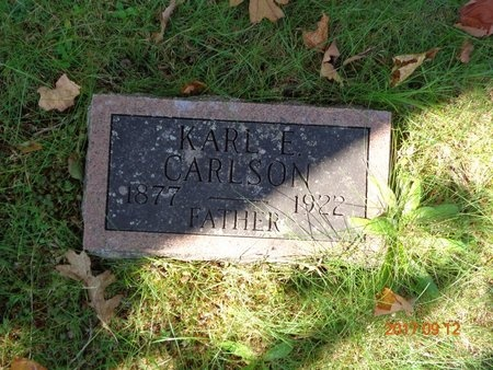 CARLSON, KARL E. - Marquette County, Michigan | KARL E. CARLSON - Michigan Gravestone Photos