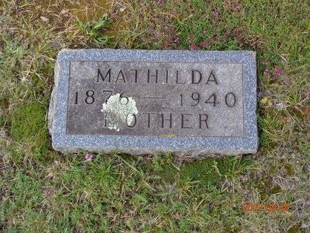 CARLSON, MATHILDA - Marquette County, Michigan | MATHILDA CARLSON - Michigan Gravestone Photos