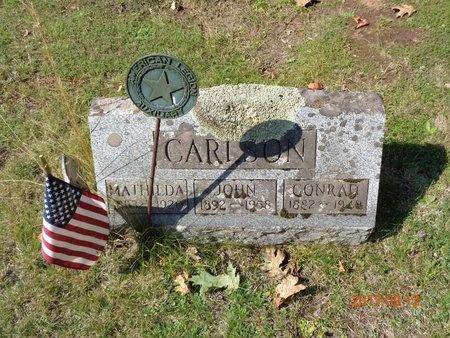 CARLSON, CONRAD - Marquette County, Michigan | CONRAD CARLSON - Michigan Gravestone Photos