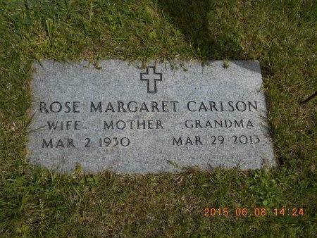 CARLSON, ROSE MARGARET - Marquette County, Michigan | ROSE MARGARET CARLSON - Michigan Gravestone Photos