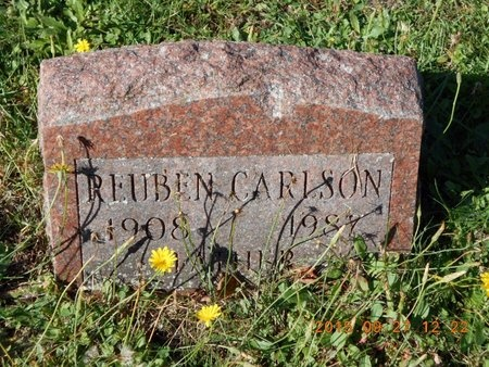 CARLSON, REUBEN - Marquette County, Michigan | REUBEN CARLSON - Michigan Gravestone Photos
