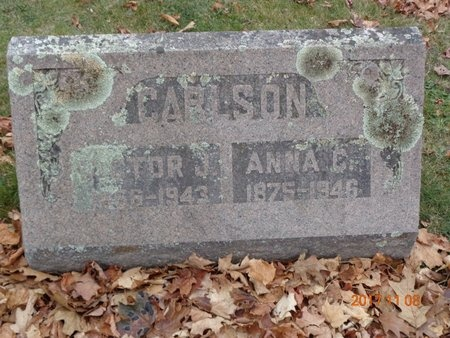 CARLSON, ANNA C. - Marquette County, Michigan | ANNA C. CARLSON - Michigan Gravestone Photos