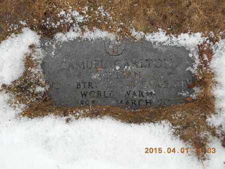 CARLTON, SAMUEL - Marquette County, Michigan   SAMUEL CARLTON - Michigan Gravestone Photos