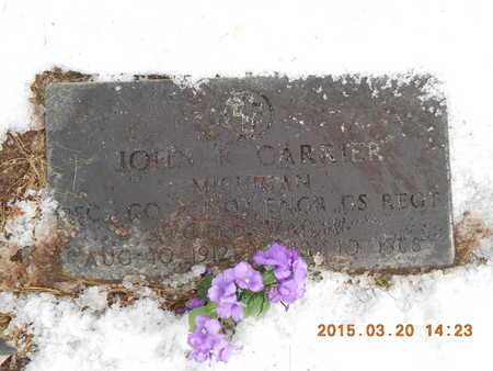 CARRIER, JOHN K. - Marquette County, Michigan | JOHN K. CARRIER - Michigan Gravestone Photos