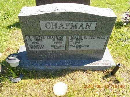 CHITWOOD CHAPMAN, MARIE D. - Marquette County, Michigan | MARIE D. CHITWOOD CHAPMAN - Michigan Gravestone Photos