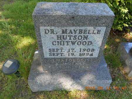 HUTSON CHITWOOD, DR. MAYBELLE - Marquette County, Michigan | DR. MAYBELLE HUTSON CHITWOOD - Michigan Gravestone Photos