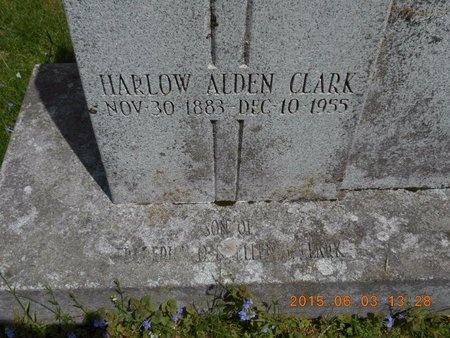 CLARK, HARLOW ALDEN - Marquette County, Michigan | HARLOW ALDEN CLARK - Michigan Gravestone Photos