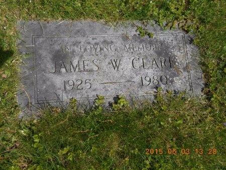 CLARK, JAMES W. - Marquette County, Michigan | JAMES W. CLARK - Michigan Gravestone Photos