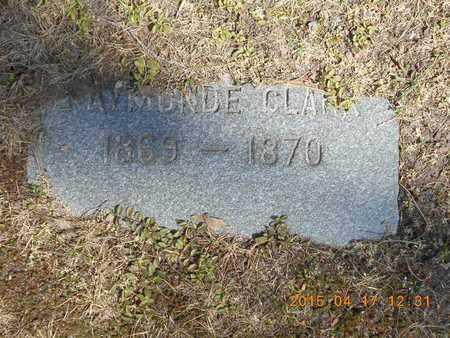 CLARK, RAYMONDE - Marquette County, Michigan   RAYMONDE CLARK - Michigan Gravestone Photos