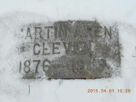 CLEVEN, MARTIN AREN - Marquette County, Michigan   MARTIN AREN CLEVEN - Michigan Gravestone Photos
