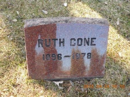 CONE, RUTH - Marquette County, Michigan   RUTH CONE - Michigan Gravestone Photos