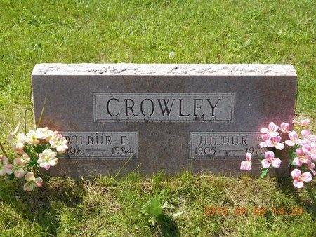 CROWLEY, HILDUR E. - Marquette County, Michigan   HILDUR E. CROWLEY - Michigan Gravestone Photos