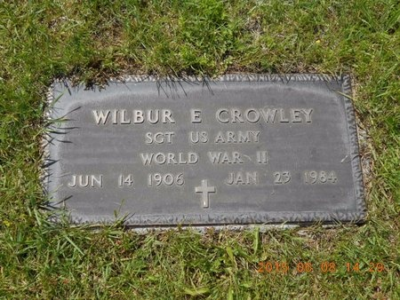 CROWLEY, WILBUR E. - Marquette County, Michigan | WILBUR E. CROWLEY - Michigan Gravestone Photos