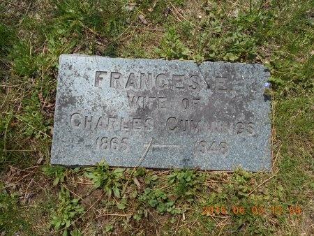 CUMMINGS, FRANCES E. - Marquette County, Michigan | FRANCES E. CUMMINGS - Michigan Gravestone Photos
