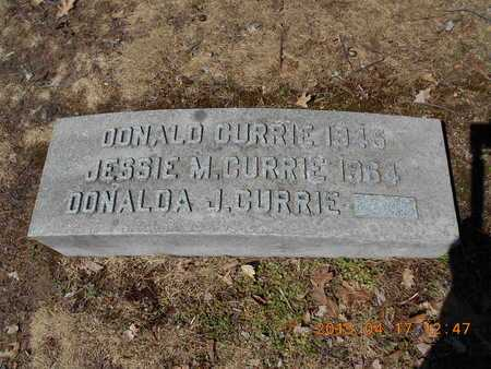 CURRIE, DONALD - Marquette County, Michigan | DONALD CURRIE - Michigan Gravestone Photos