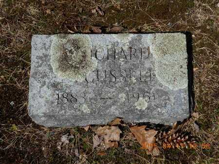 CUSSELL, A. RICHARD - Marquette County, Michigan | A. RICHARD CUSSELL - Michigan Gravestone Photos
