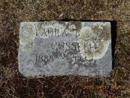 CUSSELL, LAURA B. - Marquette County, Michigan | LAURA B. CUSSELL - Michigan Gravestone Photos