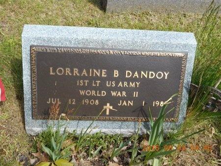 DANDOY, LORRAINE B. - Marquette County, Michigan   LORRAINE B. DANDOY - Michigan Gravestone Photos