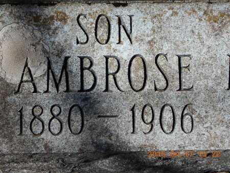 DANIELS, AMBROSE - Marquette County, Michigan   AMBROSE DANIELS - Michigan Gravestone Photos