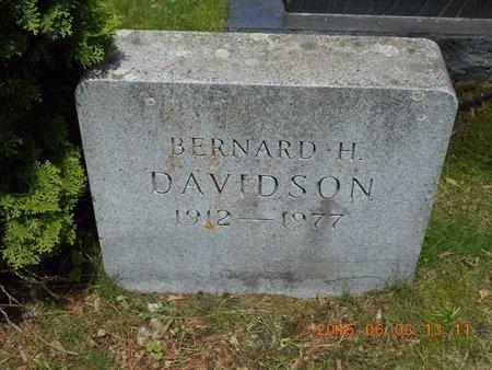 DAVIDSON, BERNARD H. - Marquette County, Michigan | BERNARD H. DAVIDSON - Michigan Gravestone Photos