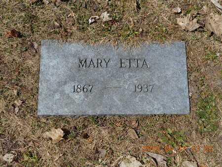 DEHAAS, MARY ETTA - Marquette County, Michigan   MARY ETTA DEHAAS - Michigan Gravestone Photos