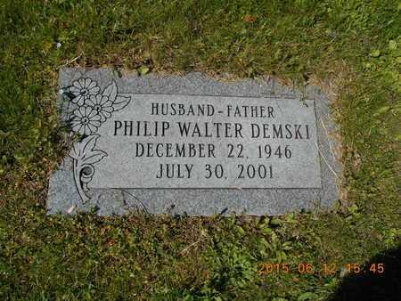 DEMSKI, PHILIP WALTER - Marquette County, Michigan | PHILIP WALTER DEMSKI - Michigan Gravestone Photos