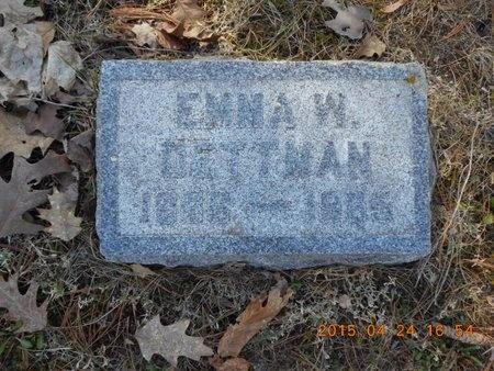 DETTMAN, EMMA W. - Marquette County, Michigan   EMMA W. DETTMAN - Michigan Gravestone Photos