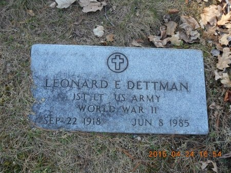 DETTMAN, LEONARD E. - Marquette County, Michigan | LEONARD E. DETTMAN - Michigan Gravestone Photos
