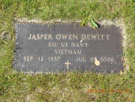 DEWITT, JASPER OWEN - Marquette County, Michigan   JASPER OWEN DEWITT - Michigan Gravestone Photos