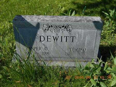 DEWITT, YURIKO - Marquette County, Michigan | YURIKO DEWITT - Michigan Gravestone Photos