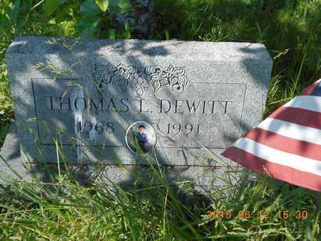 DEWITT, THOMAS LEE - Marquette County, Michigan   THOMAS LEE DEWITT - Michigan Gravestone Photos