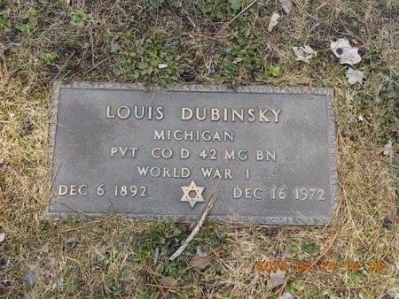DUBINSKY, LOUIS - Marquette County, Michigan | LOUIS DUBINSKY - Michigan Gravestone Photos