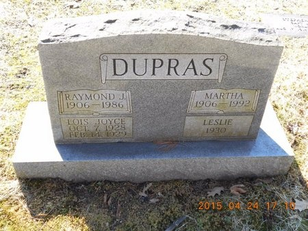 DUPRAS, RAYMOND J. - Marquette County, Michigan | RAYMOND J. DUPRAS - Michigan Gravestone Photos