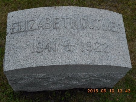 DUTMER, ELIZABETH - Marquette County, Michigan | ELIZABETH DUTMER - Michigan Gravestone Photos